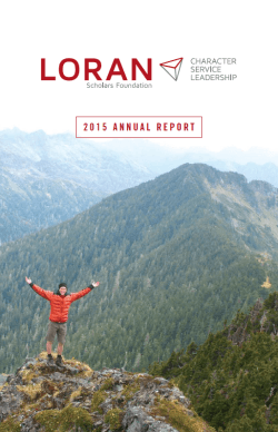 2015 Annual Report - Loran Scholars Foundation