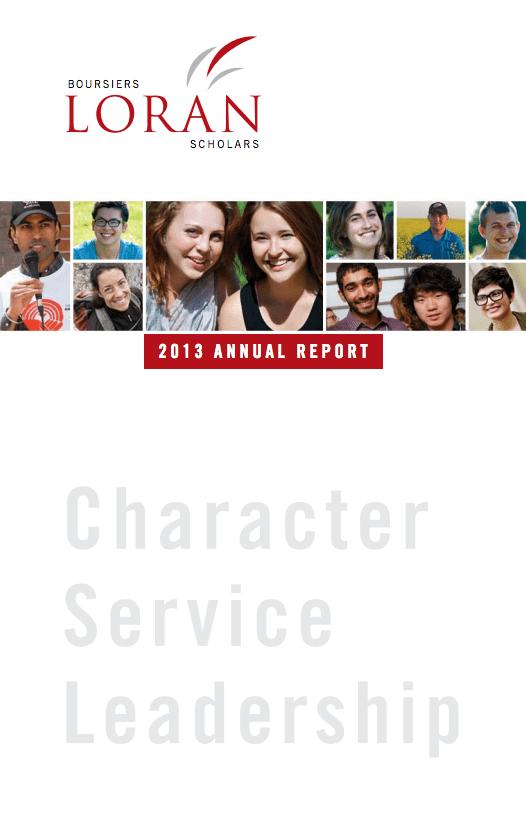 Loran Scholar 2013 annual report