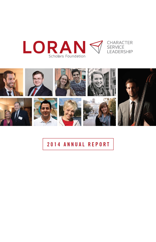 Loran Scholars Foundation 2014 annual report