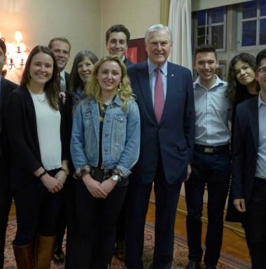 Chancellor Michael Wilson and Loran Scholars