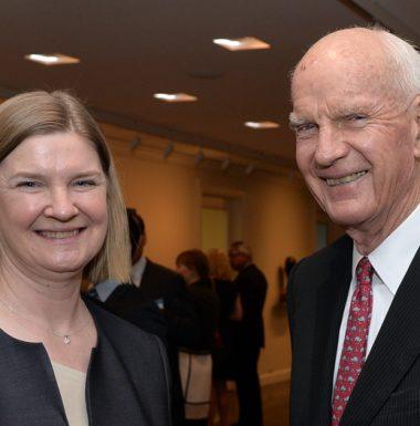 Board diretor, Beth Malcolm and supporter Ralph Barford