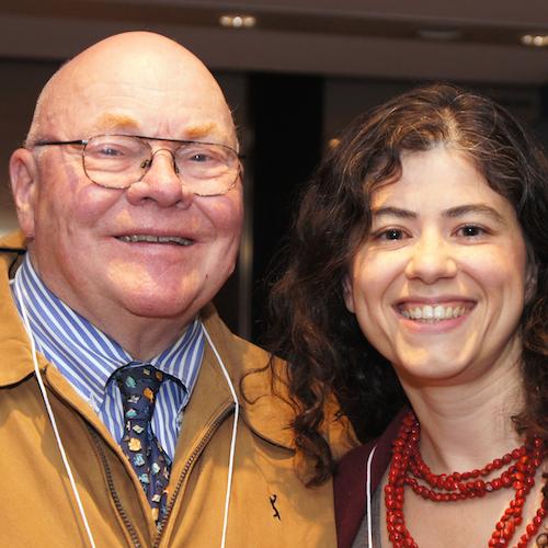 Robert Cluett, fondateur de la Fondation Boursiers Loran, et Franca Gucciardi, Boursière Loran 1990