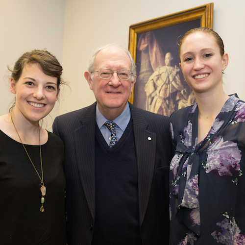 Laura Thorne (Scace Loran Scholar '11) George Cooper and Sarah Burns (Ralph M. Barford Loran Scholar '11) at University of King's College