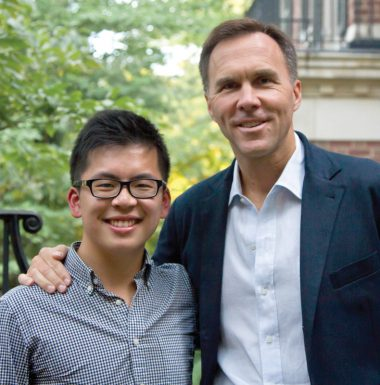2010 Loran Scholar Sammy Lau and his mentor the Hon. Bill Morneau
