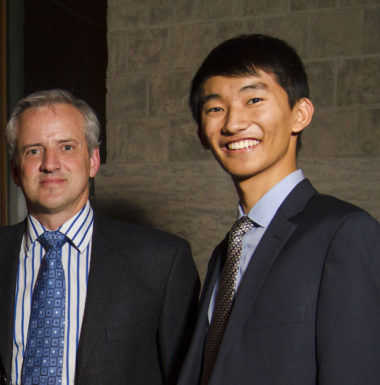 Greg Bavington Executive Director Queen's Innovation Connector and 2014 Loran Scholar Terry Zhang - Queen's University