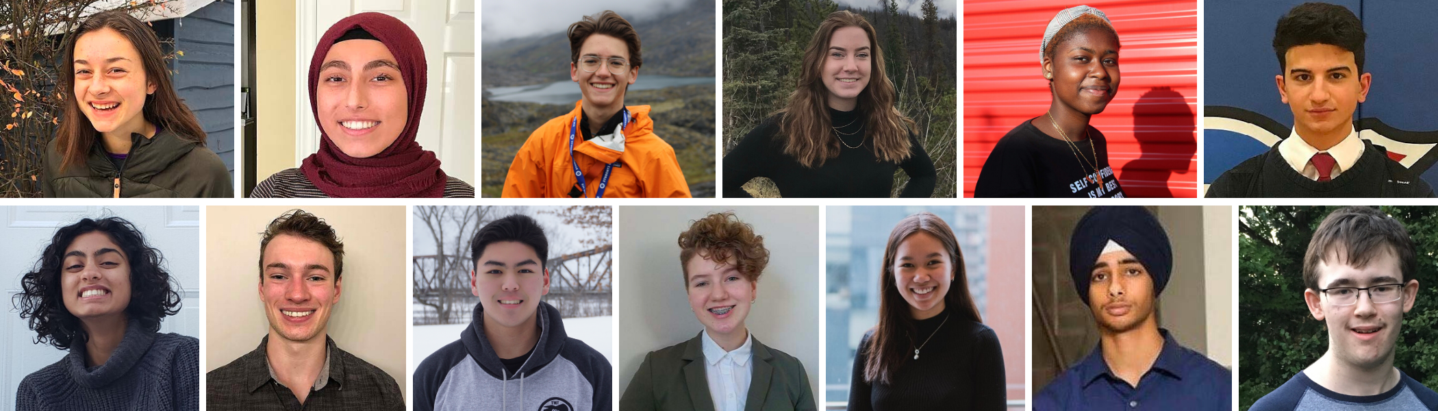 Photos des finalistes pour la Bourse Loran, édition 2020